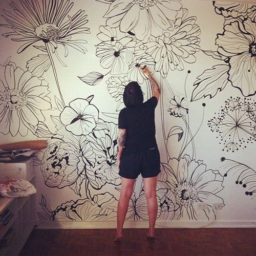tranh vẽ treo tường phòng ngủ