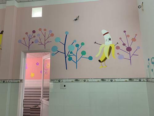 tranh vẽ tường mầm non
