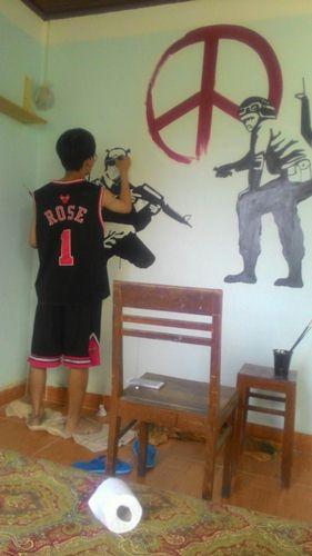 vẽ tranh tường quán cafe giá rẻ