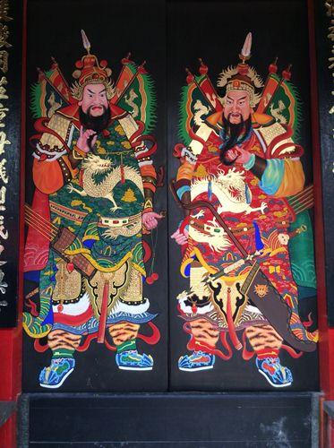 tranh vẽ Phật Giáo trên tường Bình Dương