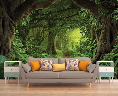 tranh vẽ tường phòng khách