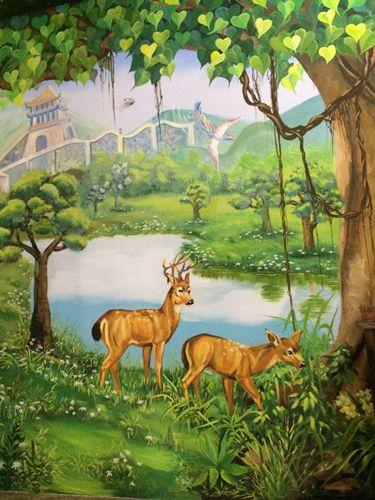 vẽ tranh nghệ thuật Phật Giáo Bình Dương