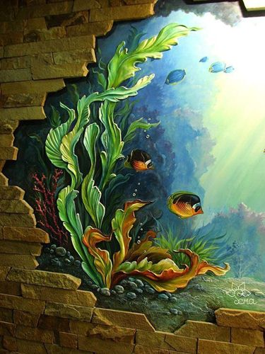 vẽ tranh tường phong thủy Bình Dương