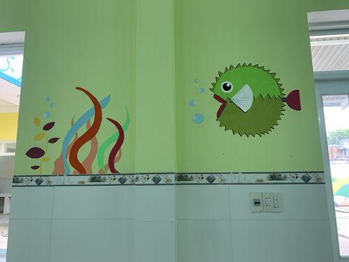 vẽ tranh tường trường học