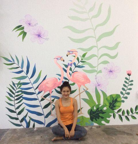 vẽ tranh tường quán trà sữa