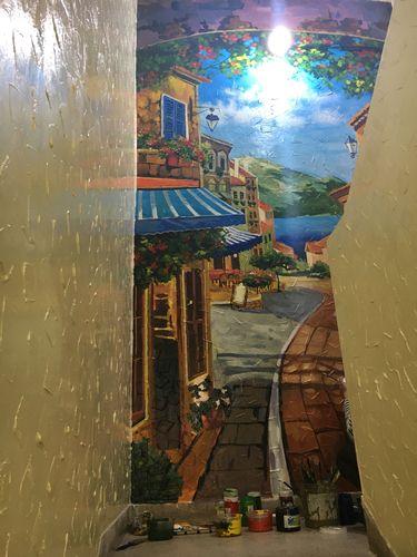 vẽ tranh tường trà sữa