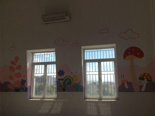 tranh vẽ tường trường mầm non