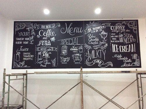 vẽ tranh tường trang trí quán cafe
