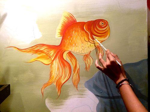 vẽ tranh tường phong thủy