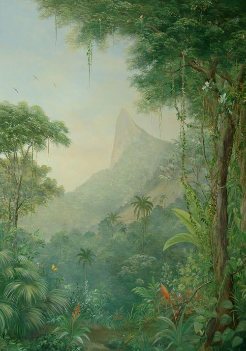 tranh vẽ tường phong cảnh