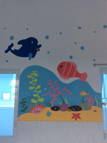 tranh vẽ tường phòng bé trai