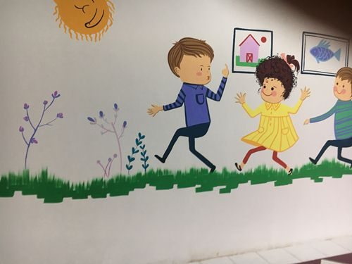 tranh vẽ tường phòng ngủ cho bé