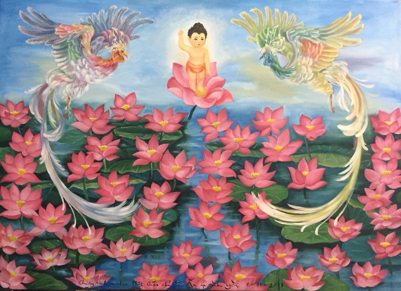 tranh phù điêu Phật Giáo